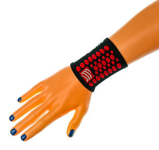 COMPRESSPORT 3D DOTS BLACK/RED SWEATBANDS - FROTKA